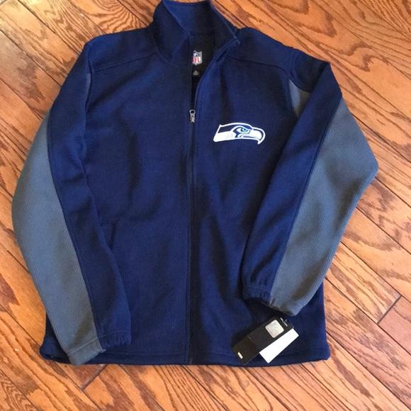 brand new e65b9 bcbf3 NWT NFL Seattle Seahawks Full Zip Medium Jacket NWT